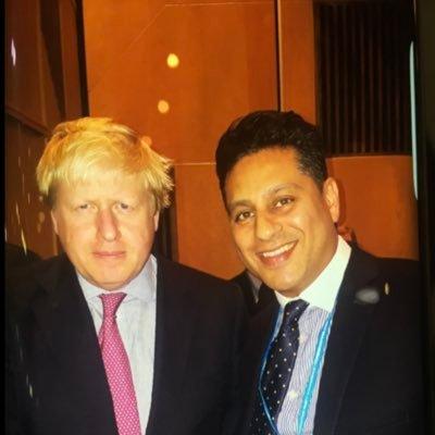 Simmy Sekhon with Boris Johnson