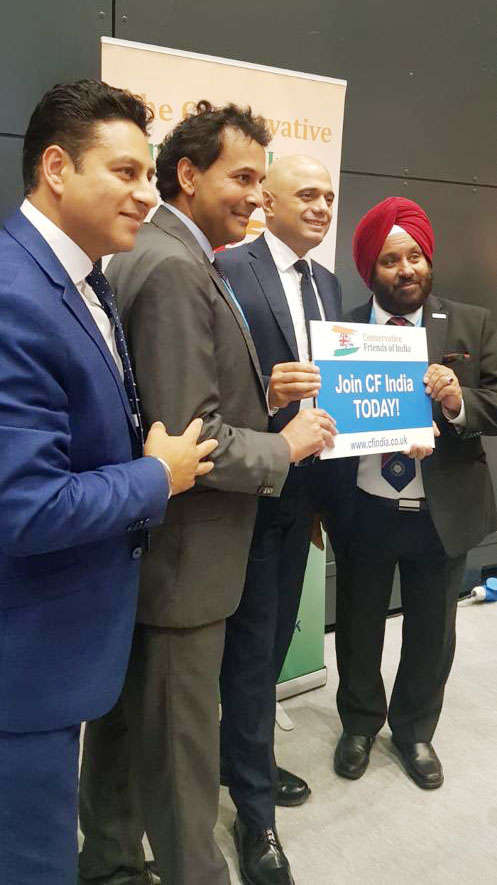 India Shines at Tory Meet in Manchester