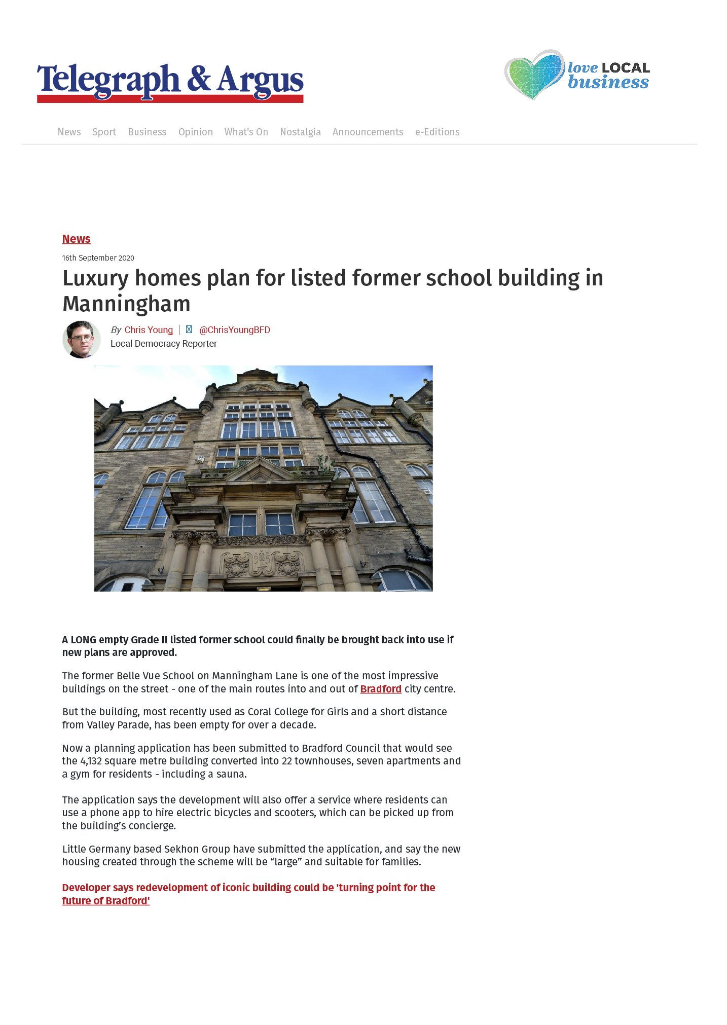 Luxury homes plan for listed former school building in Manningham